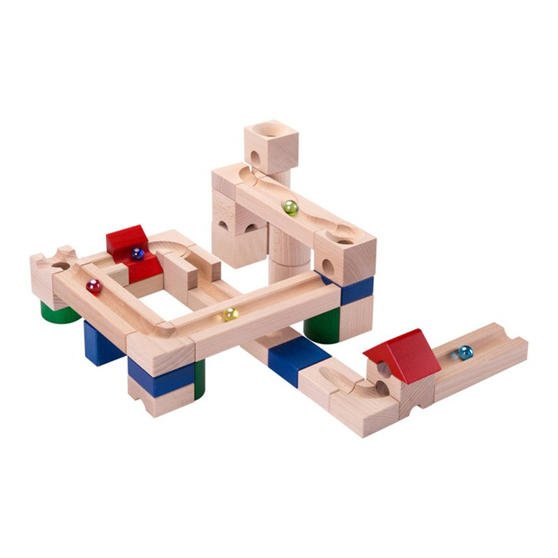 Children's Toys Marble Track Building Blocks - Preschool Edition - 37 Blocks