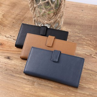 Wallet handmade leather long clip Wallets