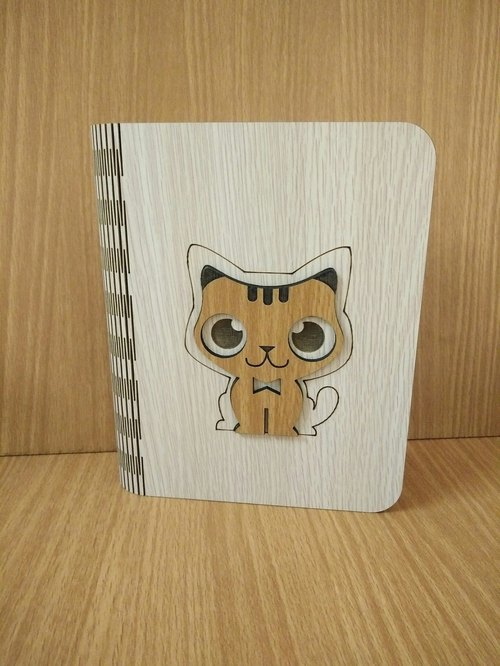 Taiwan stack [customization - color and pattern can be replaced] wood: patent (A6) - body shape notebook - three-dimensional cat notebook / album / stationery / folders / gifts / gifts