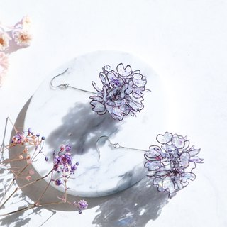 Purely。Violet / Pendant 925 pure silver ear pin