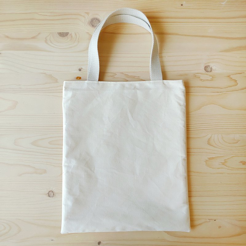 Non-printing flat tote bag / A4 file bag / cotton fabric