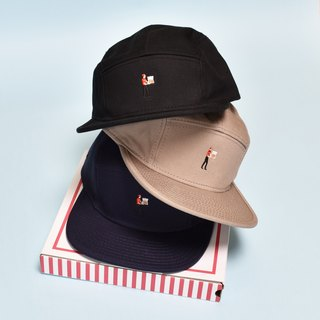 PIZZA DELI Camp Style Cap BLACK