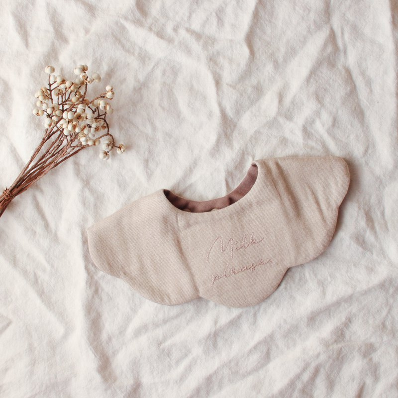 8 layered gauze Handmade Bib. 100% made in Japan. No.010
