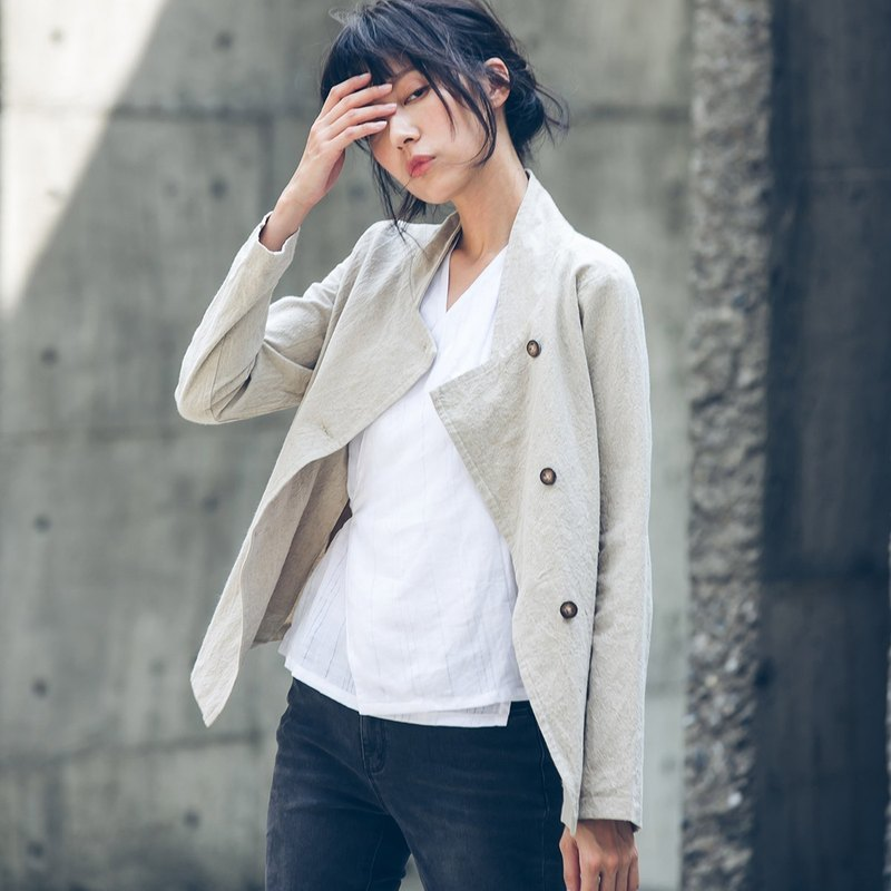 Military inspired jacket - Beige