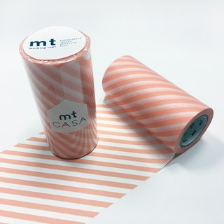 KAMOI mt CASA tape 100mm【Stripe - Salmon Pink (MTCA1104)】