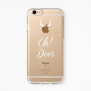 iPhone Rubber Case - Oh Deer for iPhones - Clear Flexible Rubber Silicone TPU