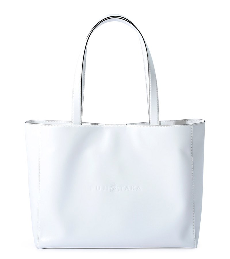 Shopper Italian Leather A4 Classic Tote-White