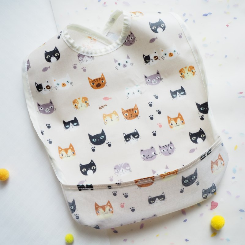 Limited Baby Eating Apron - Cat