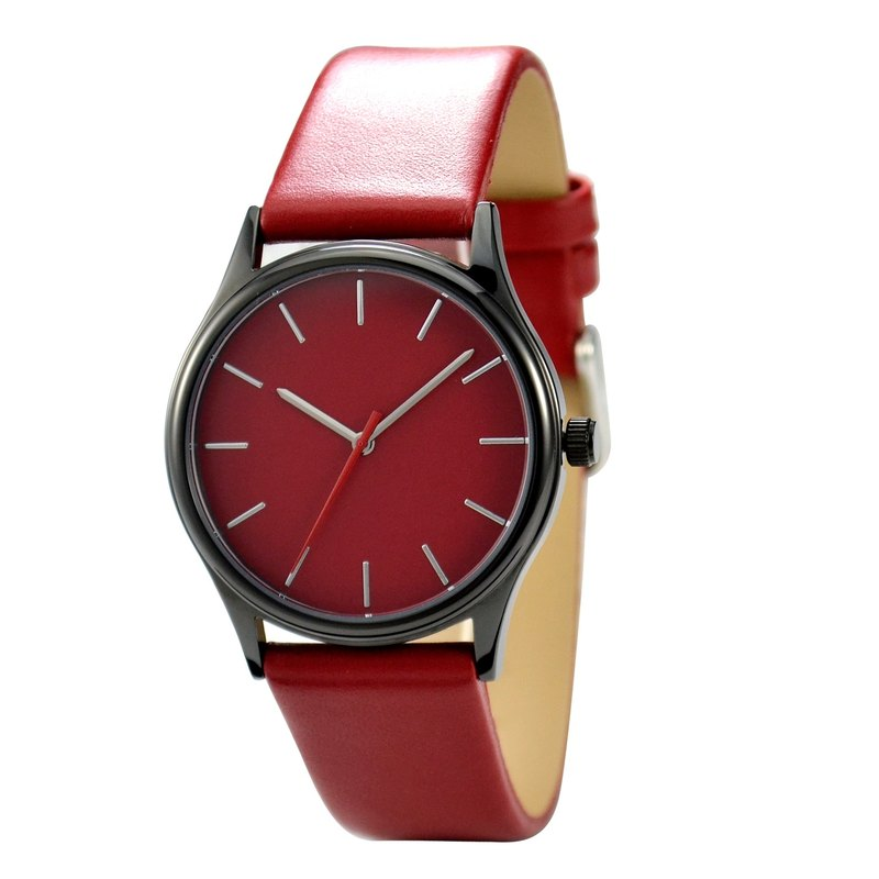 Red Watch Black Case I Men's Watch I Ladies Watch I Free shipping worldwide