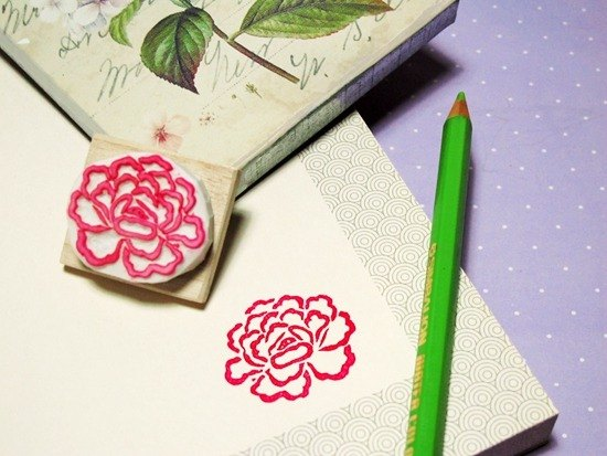 Apu handmade chapter Chinese style peony seal