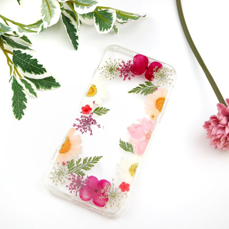 Pressed Real flower phone case - for iphone 5/5s/SE/6/6s/6 plus/6s plus/7/7