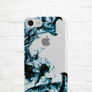 Color in Water, Blue, Clear Soft Case, iPhone X, iphone 8, iPhone 7, iPhone 7 plus, iPhone 6, iPhone SE, Samsung