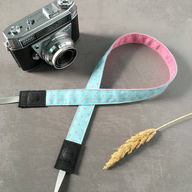 Blue Polkadot Mirrorless camera Strap