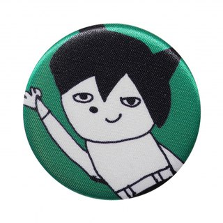 [Japan SDL] Japanese Atomic Daihatsu ATOM Patterned Fabric Badge / Brooch / Accessories Pin