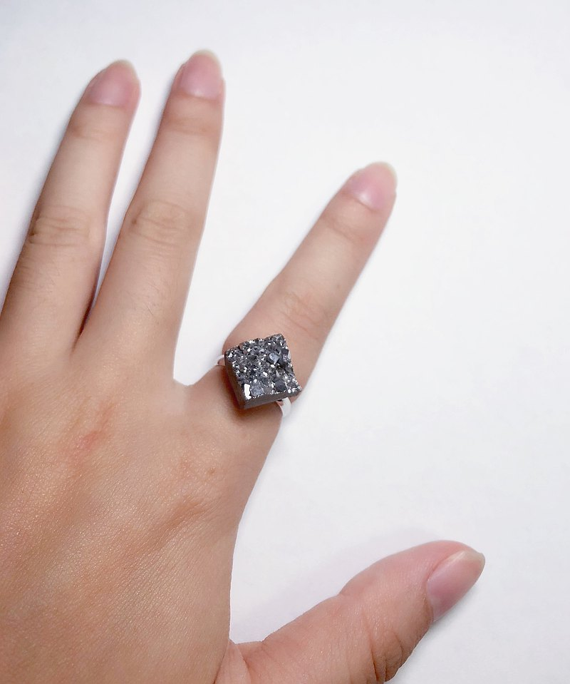 Starry Sky Series-925 Silver Crystal Ring