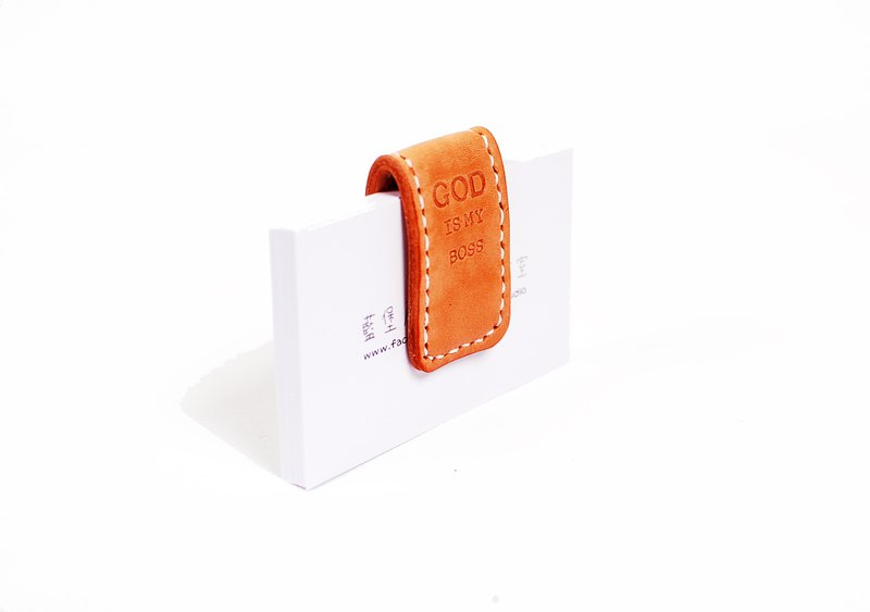 Leather banknote clip