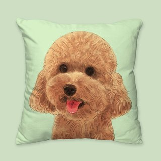 [I will love you forever] Classic Poodle Dog Animal Pillow / Pillow / Cushion