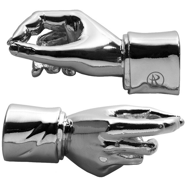 ARTEX Give me a hand hand-shaped pen holder bright silver