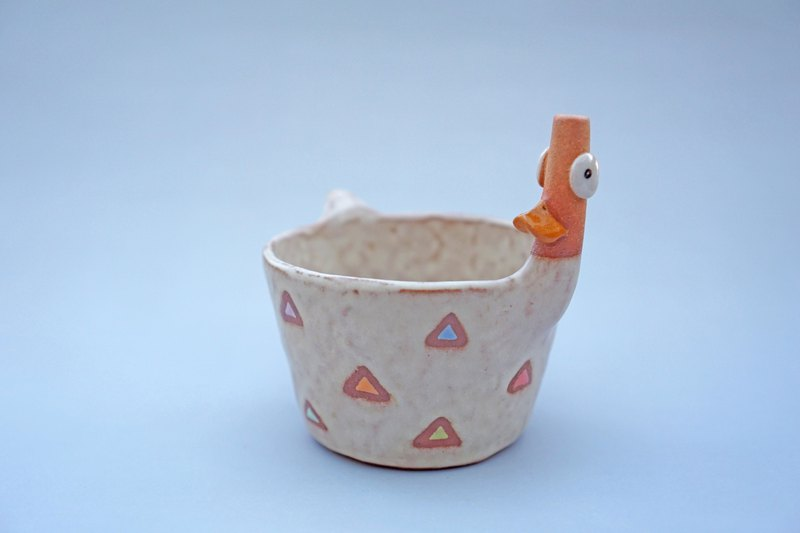 Duck ceramic plant pot , cactus ,bonsai , handmade ceramic