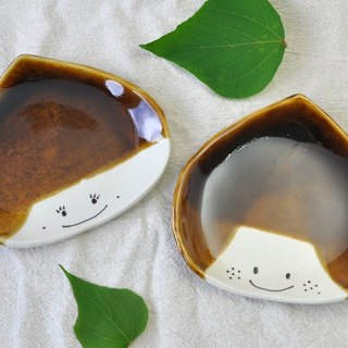 Summer chestnut brother and sister medium dish (regular size)