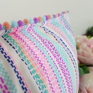 Nordic Style Simple Striped Pastel Ball Pillow/Cushion