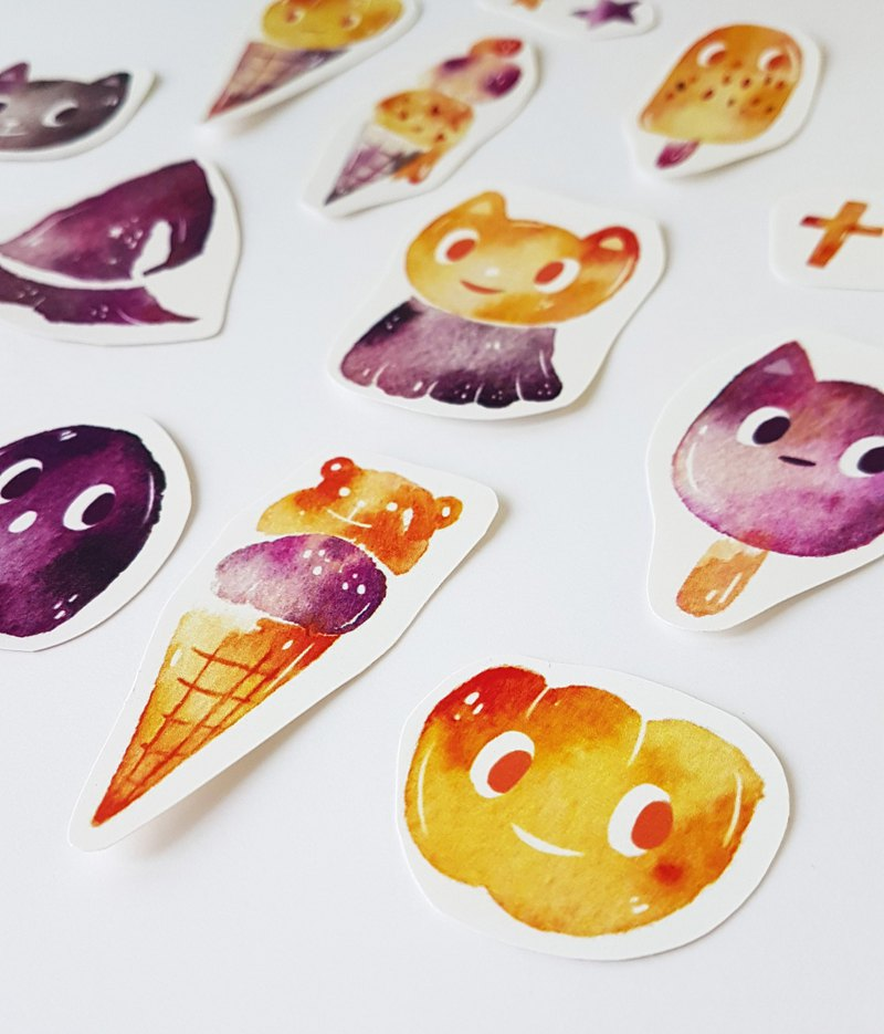 Halloween Commodity Heart Party Sticker Set