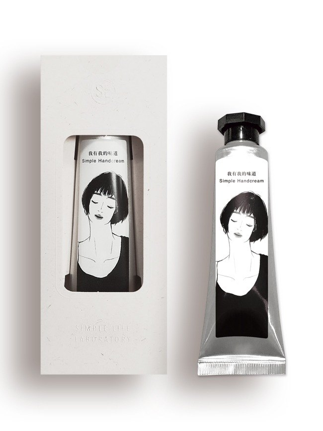 SLL Simple Handcream Hand Cream X Twelve yearning - outline (peach)