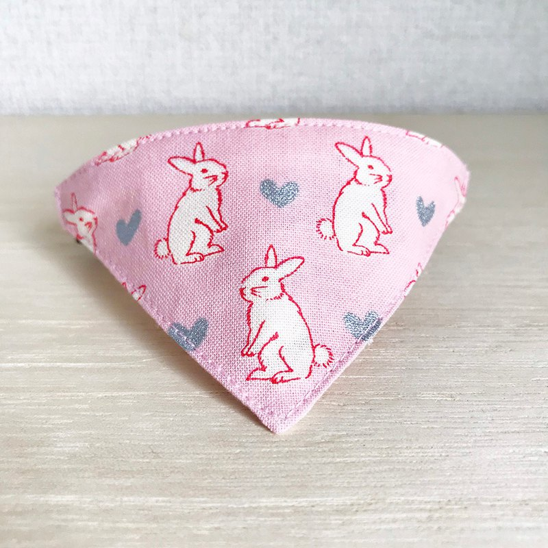 [Heart Rabbit] Bandana-style safety collar for cats