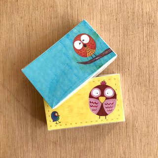Business card card ∣ universal business card small card - owl