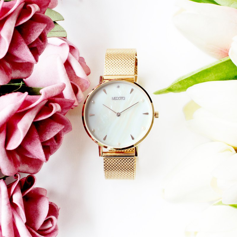 THETIS collection minimalist shell ladies watch / SE-8505