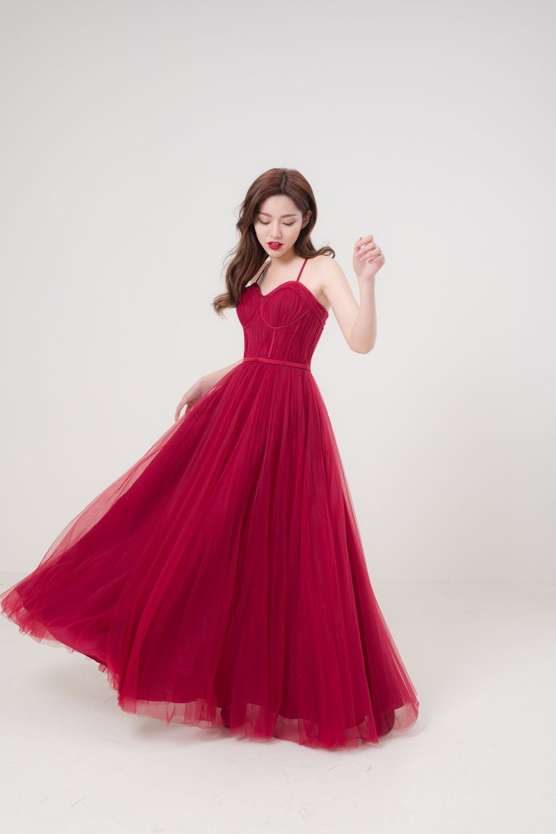 Addicted To Love Red Gown