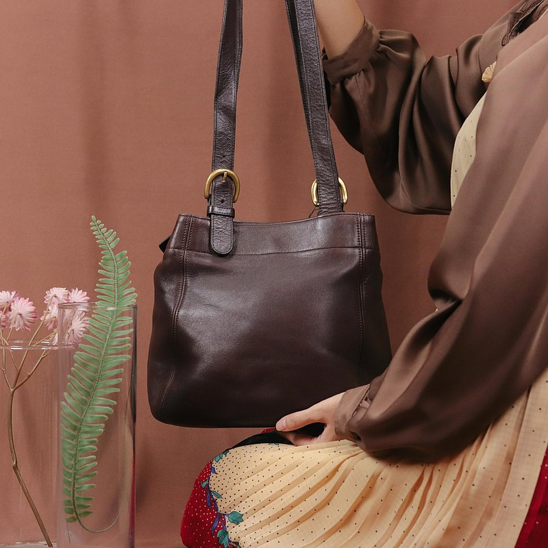 Tsubasa.Y Antique House Antique Coach Pack 013, Antique Bag Leather Shoulder Tote