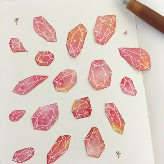 Xinghai mineral pink sky - stickers -17 pieces into a +3 bonus