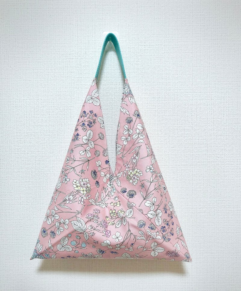 2019 spring color tote bag / imported cloth - pink floral