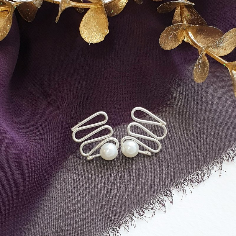 幾個彎遇見你 earrings 925 sterling silver and bead