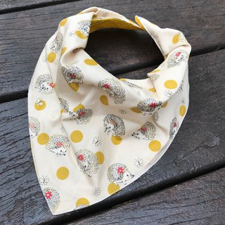Fashion scarf*Hedgehog yellow*Stereo triangle bib