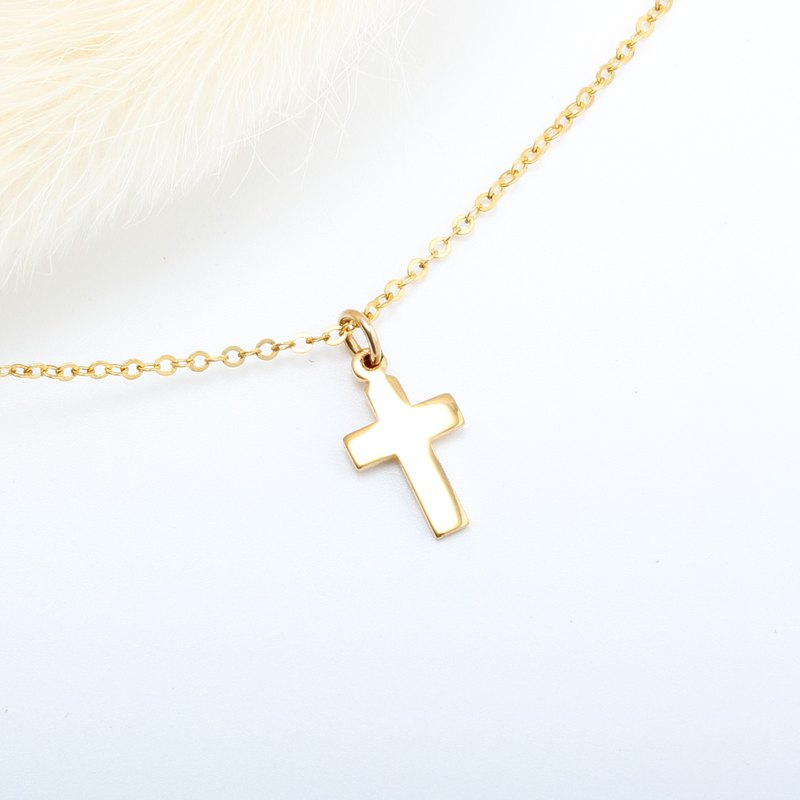 14KGF Cross Gold-filled necklace Valentine's Day gift