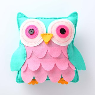Fairy Land [Material Pack] Owl Pillow - Green