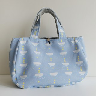 Smile bag month palace print (sea blue)