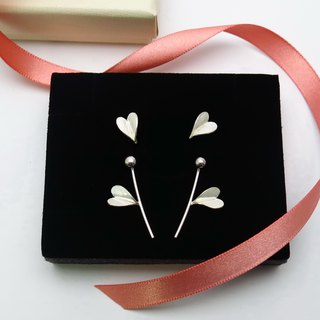 Goody Bag- Leaf of Love Silver Earrings - Set with 6 pieces-Front and Back Style