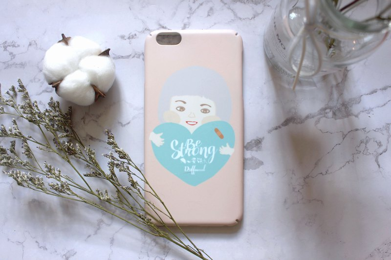 Be strong matte matte scrub iPhone shell original cure system illustration