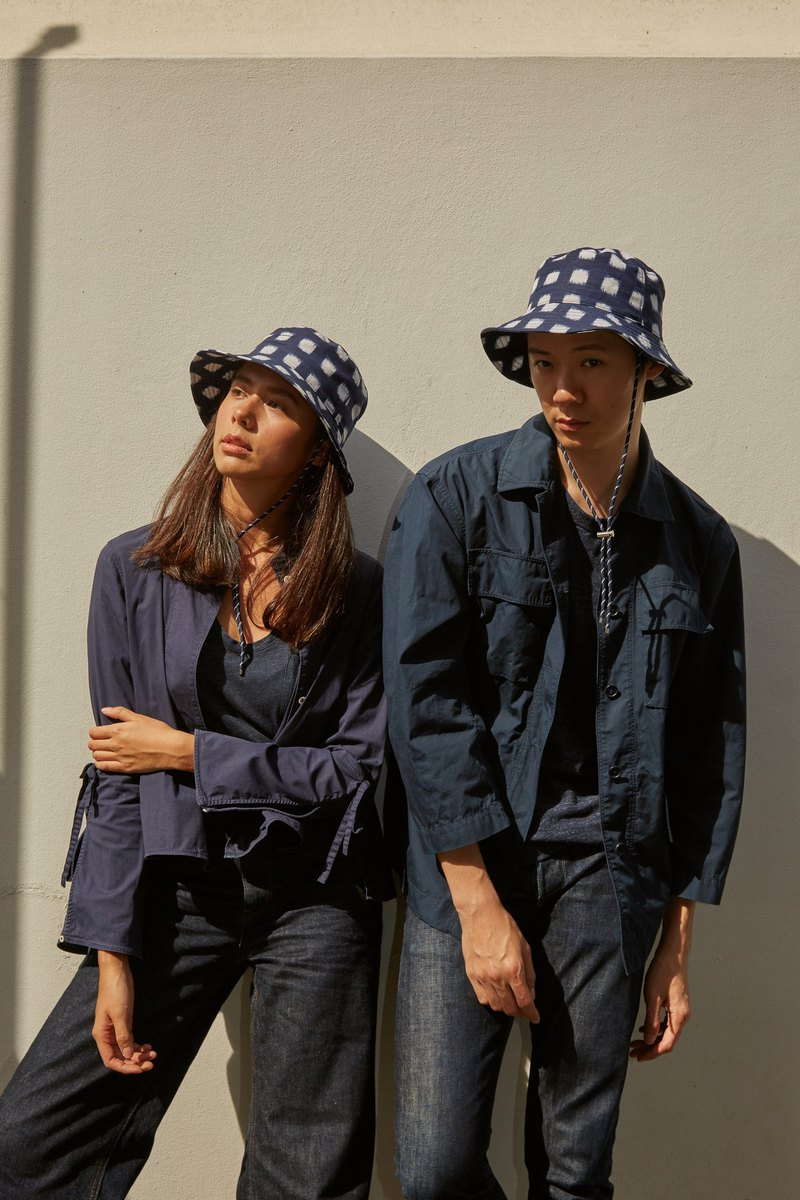 Deep Blue Bucket Hat in Navy