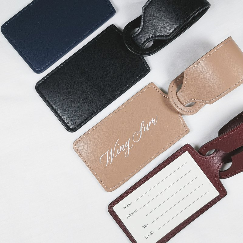 Custom Leather Luggage Tag / Personalized Luggage Tag Handwrite House Handwritten English Calligraphy