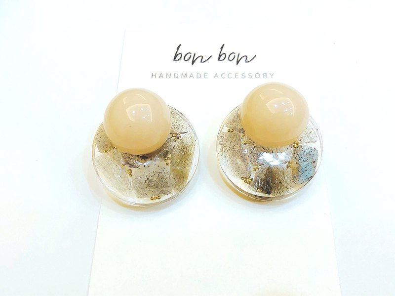 JUN Birthstone Series - Two ways Moonstone Stud earrings