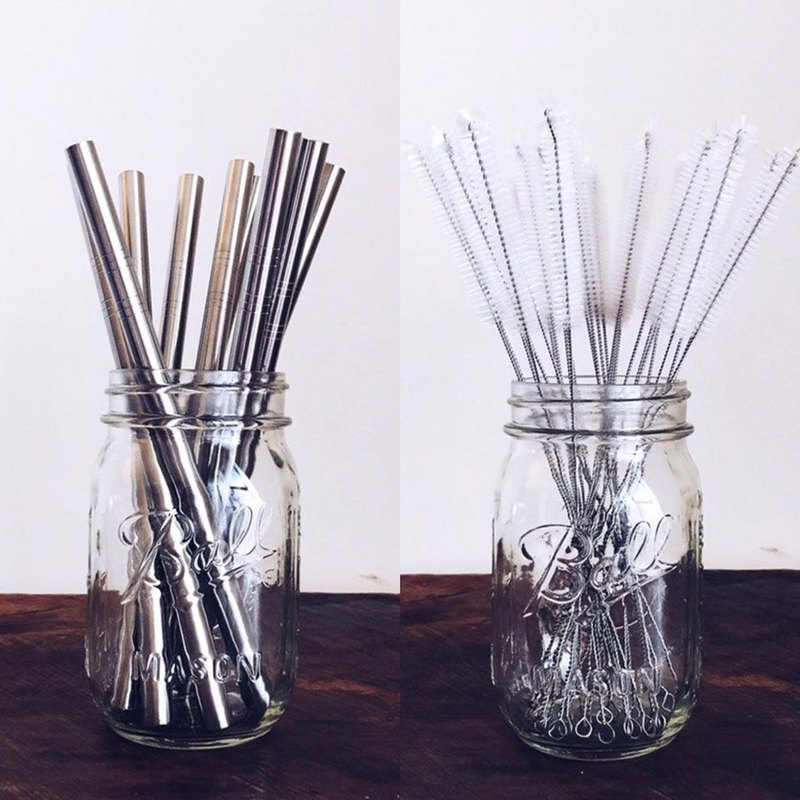 304 stainless steel thick straw special group (including straw brush)