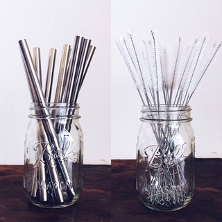 304 stainless steel crude straw special group (with straw brush)