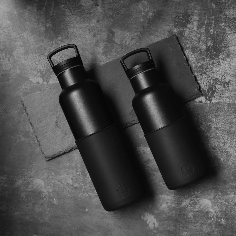 [size black bottle combination] American HYDY fashion insulation water bottle CinCin Black series