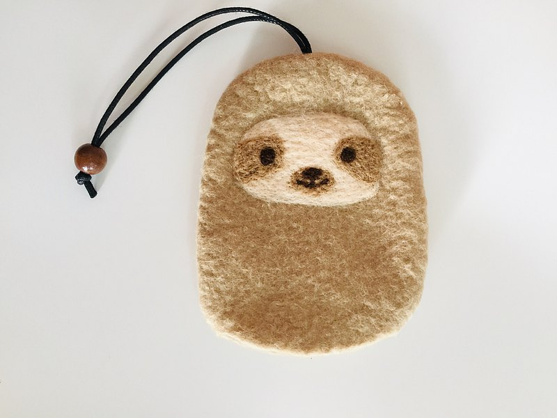 The sloth is here! Key storage bag exchange gift Taiwan handmade