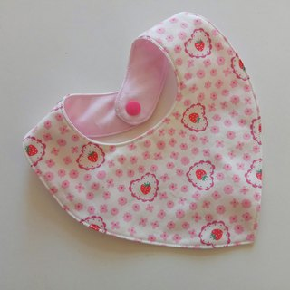 Japanese cloth strawberry bib, moon gift, baby bib, baby bib, saliva towel