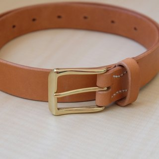 Hand stitch Italian vegetable tanned leather belt (can be tailored)